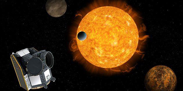 Künstlerische Darstellung der CHEOPS-Mission (Illu.). Copyright: ESA/ATG medialab