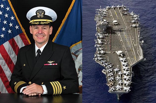 Der derzeitige Kapitän der USS Nimitz, Capt. Max Clark Copyright/Quelle: US Navy / www.nimitz.navy.mil/