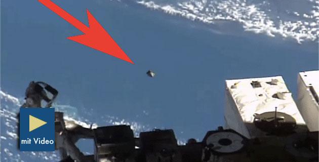 Standbild aus dem ISS-Livestream. Copyright/Quelle: NASA