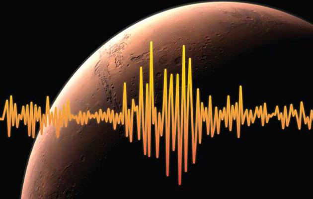 Symbolbild: Marsbeben (Illu.). Copyright: Nasa/JPL-Caltech