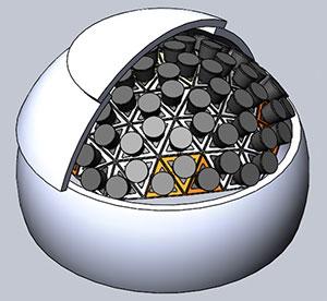 Technische Ansicht einer PANOSETI-Observatoriums (Illu.). Copyright/Quelle: Shelley Wright, UCSD