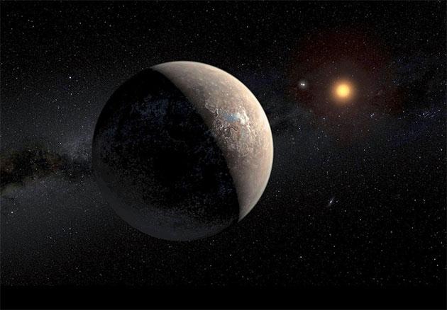 """Künstlerische Darstellung des Planeten Proxima Centauri b"""" (Illu.). Copyright: ESO/M. Kornmesser"""