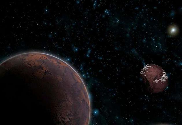 Künstlerische Darstellung transneptunischer Objekte im äußeren Sonnensystem (Illu.). Copyright: José Antonio Peñas (SINC)