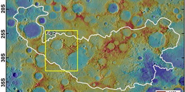 Das chaotische Gelände auf Merkur. Copyright/Quelle: Planetary Science Institute