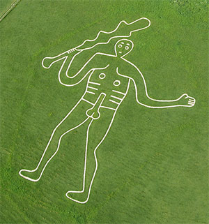 "Der ""Cerne Abbas Giant"". Copyright: Steve Alexander, temporarytemples.co.uk"
