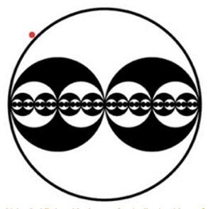 """Kleine Kreise außerhalb der Hauptformation (hier am Beispiel einer Formation des Sommers 2001 am Cliffords Hill in England, rot markiert) werden """"Grapeshot"""" Kreise genannt. Laut Credo Mutwa markieren sie jene Punkte, von denen aus die Formen betrachtet und interpretiert werden sollen. Sie kennzeichnen aber auch, so Mutwa, die Position, an welchem man auf die Muster und die dahinterstehende Intelligenz antworten soll. Copyright: A. Müller"""