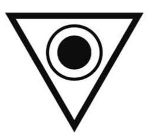 Diese Dreiecksformation sah Credo Mutwa 1958 in der Natal Region. Copyright: A. Müller, basierend auf der Originalskizze von Credo Mutwa
