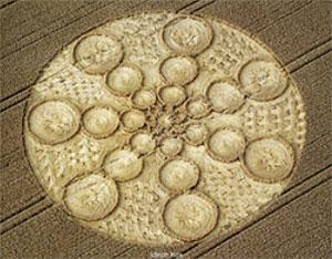 """Der Korb "", entdeckt am 6. August 1999 bei Bishops Cannings, Wiltshire, England. Copyright: Ulrich Kox"