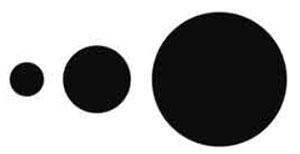 """Eine grafische Rekonstruktion der Formation die Rick Budai zwischen 1995 und 1996 in einem Feld zwischen Alberton und Sesselburg gesehen hatte. Kornkreisforscher sprechen hier von einer sogenanten """"Thought Bubbles""""-Formation. Andere Formationen hatten die Form riesiger Spiralen. Copyright: A. Müller – basierend auf Rick Budais Beschreibung"""