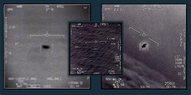 Standbilder aus den drei nun auch vom US-Verteidigungsministerium offiziell veröffentlichten Videos. Copyright: US Department of Defense