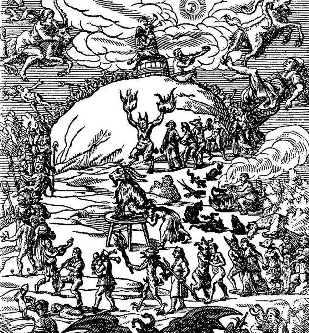 """""""Blockes-Berges Verrichtung"""", J. Praetorius um 1668. Copyright: gemeinfrei"""