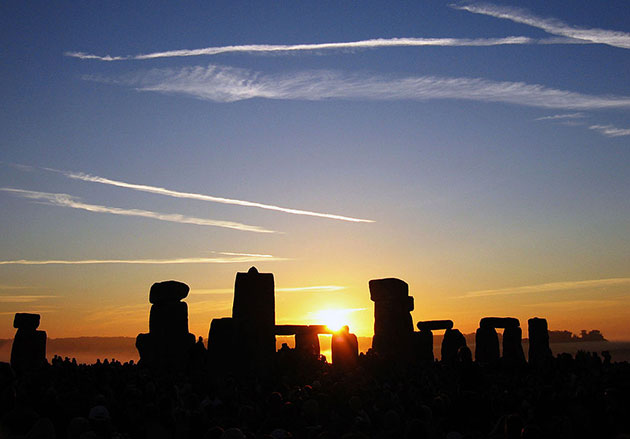 Sonnenaufgang zur Sommersonnenwende über Stonehenge. Copyright: Andrew Dunn (via WikimediaCommons) / CC BY-SA 2.0
