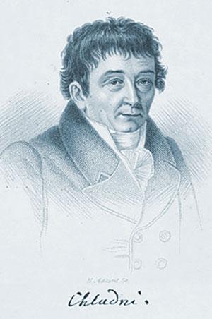 E.F.F. Chladni in einem zeitgenössischen Portrait. Copyright: Gemeinfrei
