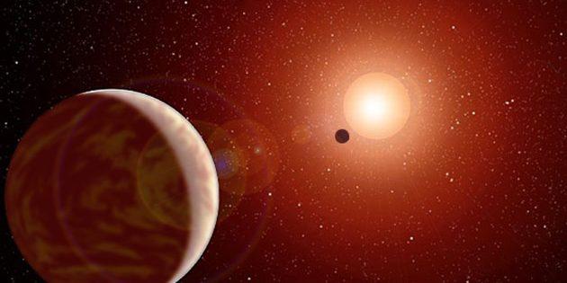 Künstlerische Darstellung zweier Planeten um Proxima Centauri (Illu). Copyright: NASA (bearb.: grewi.de)