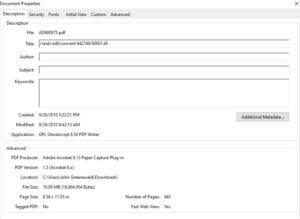 Die Meta-Data der (vollständigen) NTIS-Version zeigen, dass es sich um einen Originalscan von 2010 handelt. (Klicken Sie auf die Bildmitte, um zu einer vergrößerten Darstellung zu gelangen.)
