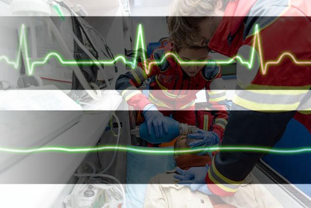 Symbolbild: Notärzte bei der Wiederbelebung. Copyright/Quelle: Adobe Stock/Lightfield Studios / EURAC (Bearb. grewi.de)