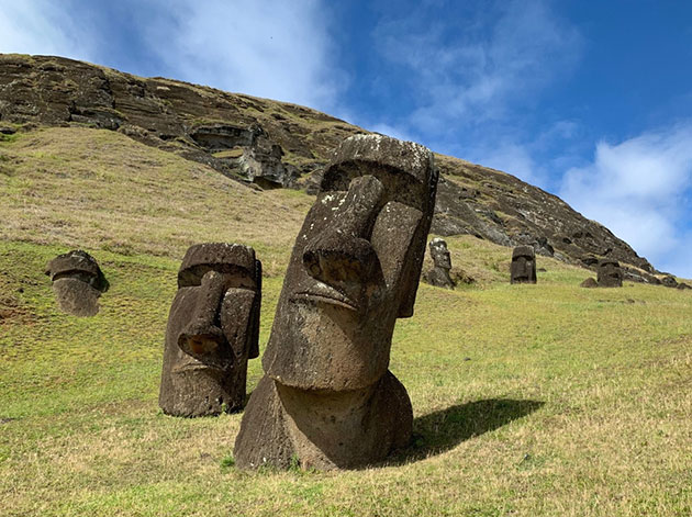 "Symbolbild: Moai-Statuen auf der Osterinsel ""Rapa Nui"". Copyright: AlexanderIoannidis"