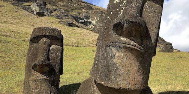 Symbolbild: Moai-Statuen am Standort Rano Raraku auf der Osterinsel. Copyright: Javier Blanco