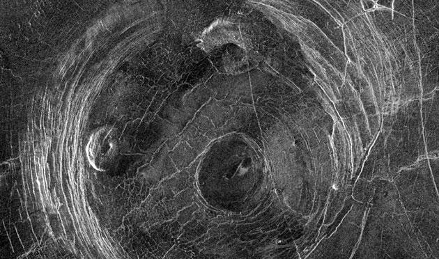 Direktblick auf eine Corona auf der Venusoberfläche Copyright: NASA/JPL