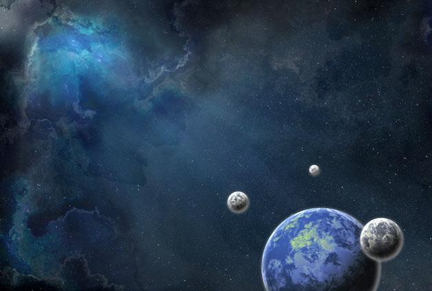 Symbolbild: Ferne lebensfreundliche Planeten (Illu.). Copyright: Public Domain (via Üixabay.com) / Pixabay License