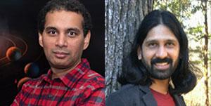 Ravi Kumar Kopparapu (l.) und Jacob Haqq-Misra. Copyright: NASA / haqqmisra.net