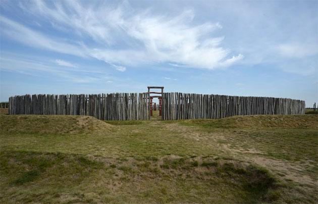 Blick auf das Ringheiligtum Pömmelte. Quelle: Landesamt für Denkmalpflege und Archäologie Sachsen-Anhalt