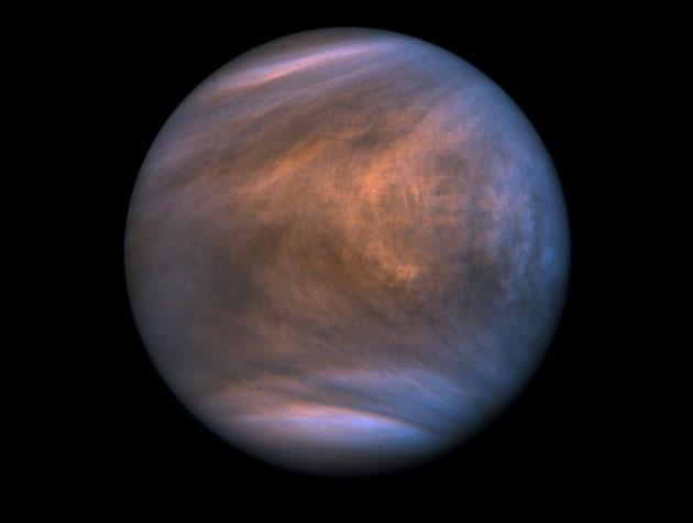 UV-Aufnahme der Venus durch die japanische Sonde Akatsuki. Copyright: ISAS/JAXA