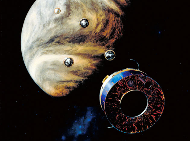 """Künstlerische Darstellung der """"Pioneer-13""""-Mission (Illu.). Copyright: NASA"""