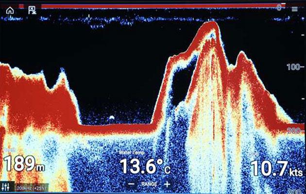 Das am 30. September 2020 in rund 170 Metern Tiefe im Loch Ness geortetet Sonarecho. Copyright/Quelle: Ronald Mackenzie / CruiseLochNess.com