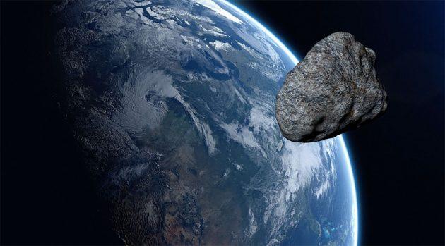 Künstlerische Darstellung eines Asteroiden im Anflug auf die Erde (Illu.). Copyright: urikyo33 (via Pixabay.com) / Pixabay License