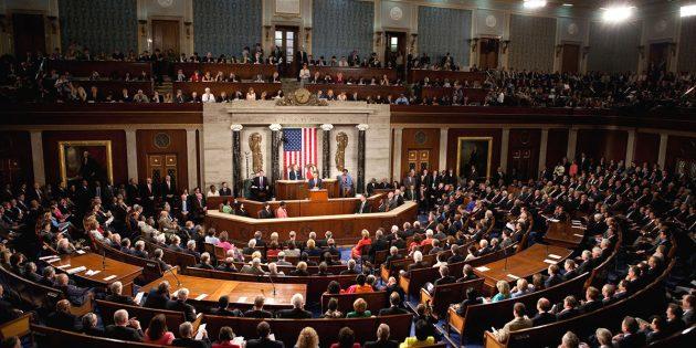Symbolbild: Blick in den Plenarsaal des US-Repräsentantenhauses Copyright: whitehouse.gov (Gemeinfrei)