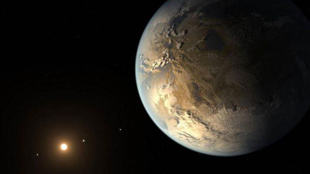 Künstlerische Darstellung eines erdartigen und erdähnliche Exoplaneten. Copyright: NASA Ames/JPL-Caltech/T. Pyle