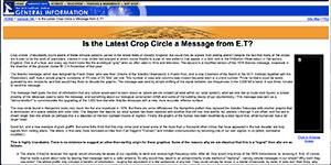 """Die mittels der """"WaybackMashine"""" des InternetArchive gespeicherte Statement des SETI-Institutes zum Kornkreis von Chilbolton 2001"""