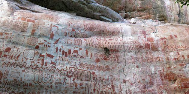 Beispiel der Felsmalereien von La Serranía La Lindosa Copyright/Quelle rancisco Javier Aceituno Bocanegra / sdcelarbritishmuseum.org
