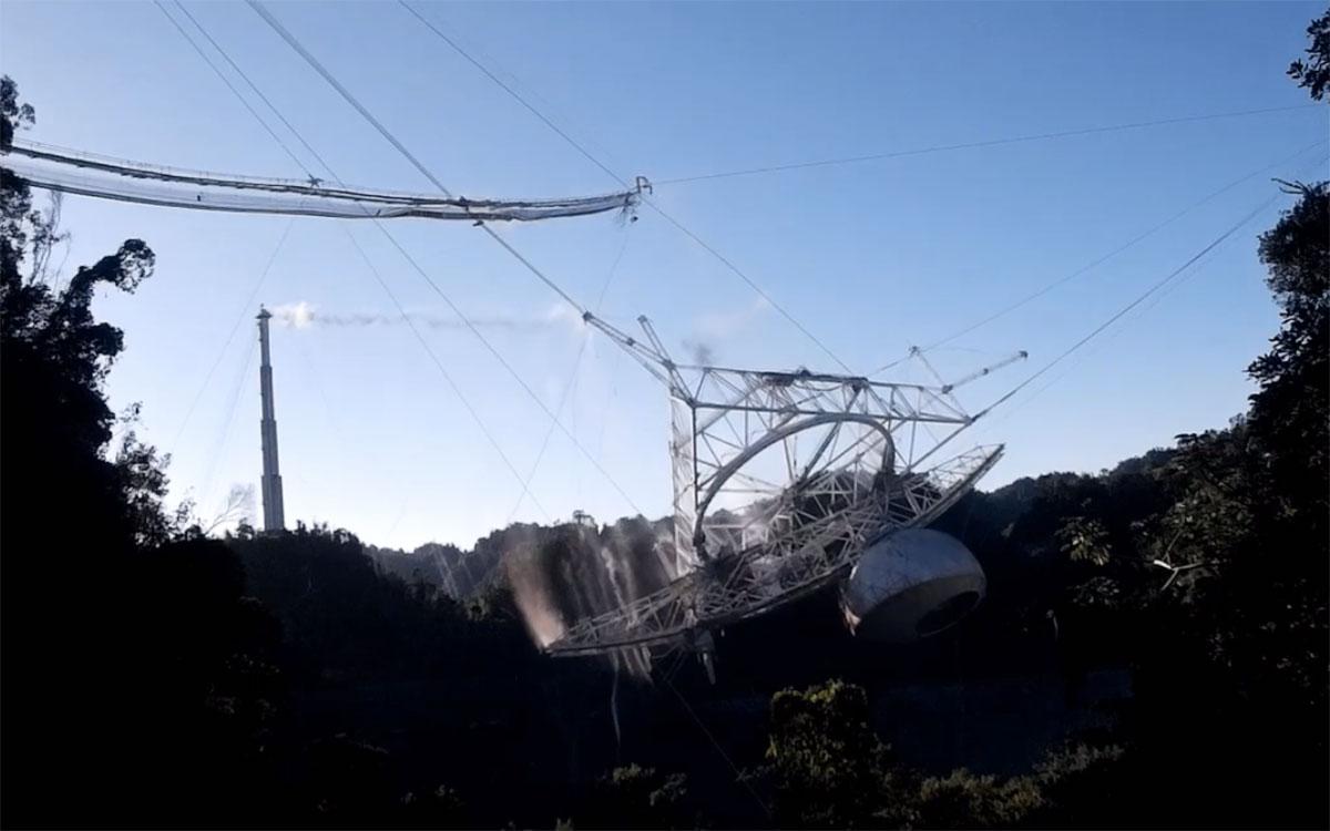 Standbild aus dem Überwachungsvideo Copyright/Quelle: Arecibo Observatory, U.S. National Science Foundation
