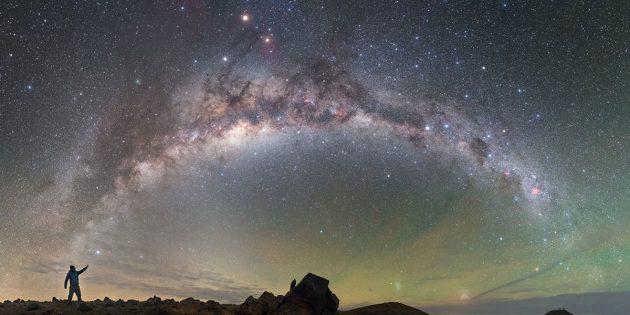 Symbolbild: Blick auf unserer Heimatgalaxie, die Milchstraße. Copyright: P. Horálek/ESO