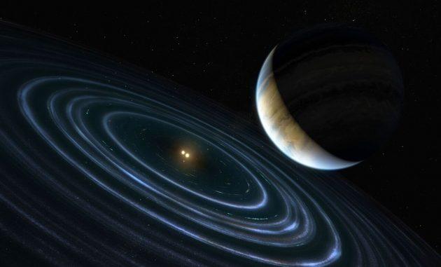 Künstlerische Darstellung des Exoplaneten HD 106906 b Copyright: ESA / Hubble, M. Kornmesser, CC BY 4.0