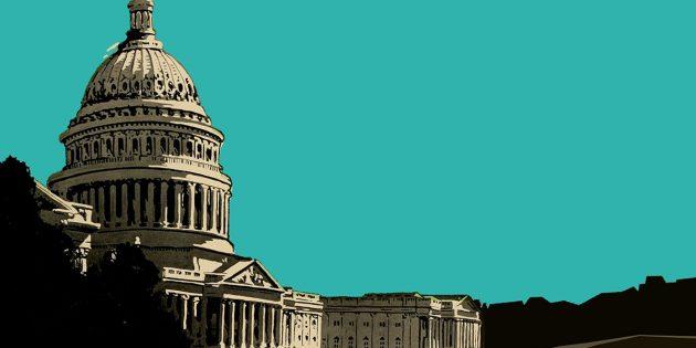 Künstlerische Darstellung des Kapitols in Washington (Illu.). Copyright: grewi.de