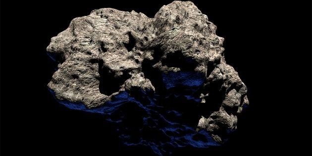 Künstlerische Darstellung eines Asteroiden, dem Mutterkörper von Meteoriten (Illu.). Copyright: AlexAntropov86 (via Pixabay.com) / Pixabay License