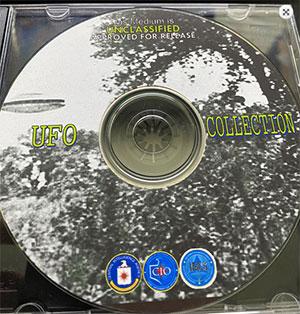 Die von der CIA eigens erstellte CD-ROM mit den UFO-Akten der CIA. Man achte auf die grafische Gestaltung durch den US-Auslandsgeheimdienst. Quelle: TheBlackVault.com