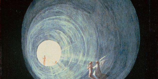 """Symbolbild: Detailansicht aus Hieronymus Boschs """"Flug zum Himmel"""" (um 1500). Copyright: Gemeinfrei"""