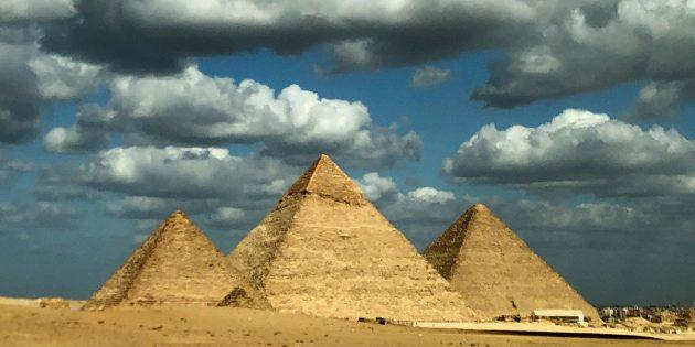Blick auf die Pyramiden von Gizeh, Kairo. Copyright/Quelle: Hamada Anwar / TU München