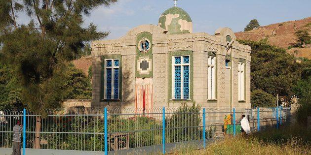 """Die """"Kapelle der Tafeln"""" auf dem Gelände der Kirche St. Maria von Zion in Aksum. Copyright: JensiS65 (via WikimediaCommons) / CC BY-SA 3.0"""