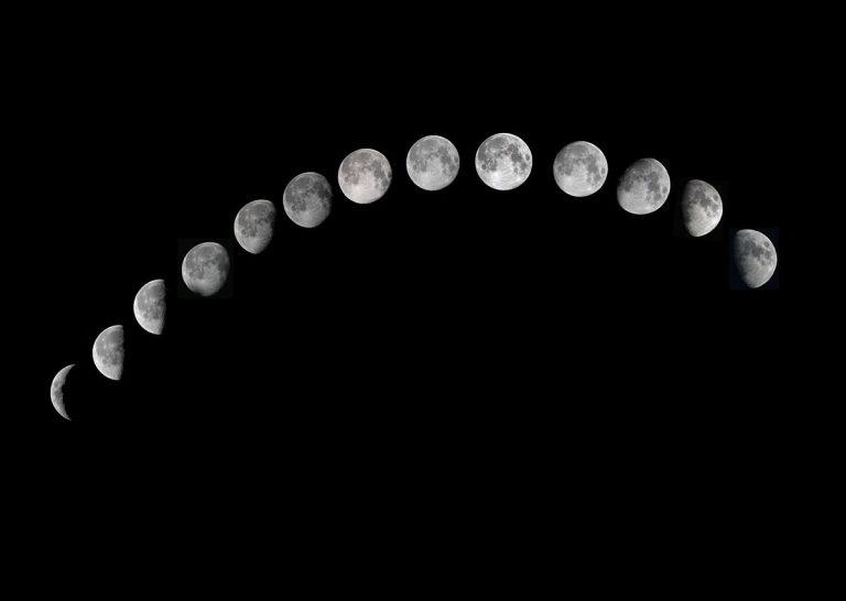 Symbolbild: Mondphasen. Copyright: Jun from Sagamihara (via WikimediaCommons) / CC BY-SA 2.0