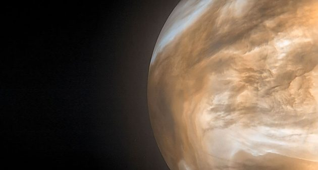 Venus-Aufnahme im Infrarotespektrum der japanischen Akatsuki-Sonde Copyright: JAXA/ISAS/DARTS/Damia Bouic