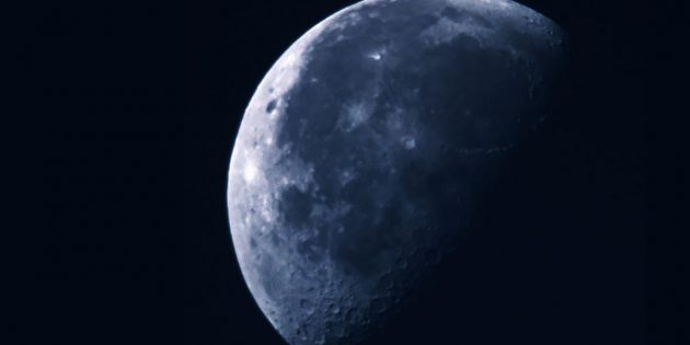 Blick zum Mond. Copyright: A. Müller für grenzwissenschaft-aktuell.de