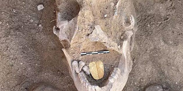 Die Mumie mit der goldenen Zunge. Copyright: Ministry of Tourism and Antiquities