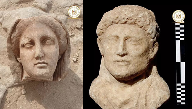 Weitere Funde 2021 in Taposiris Magna. Copyright: Ministry of Tourism and Antiquities
