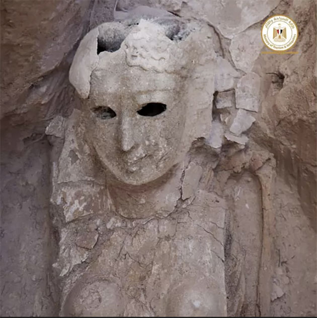 Mumie mit Körper-Totenmaske. Copyright: Ministry of Tourism and Antiquities