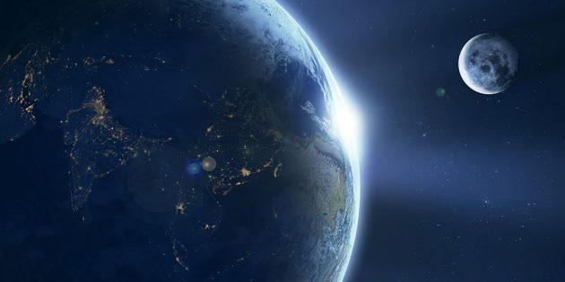 Symbolbild: Erde-Mond-System (Illu.) Copyright: Comfreak (via Pixabay.com) / Pixabay License
